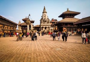 The city of Bhaktapur in Nepal
